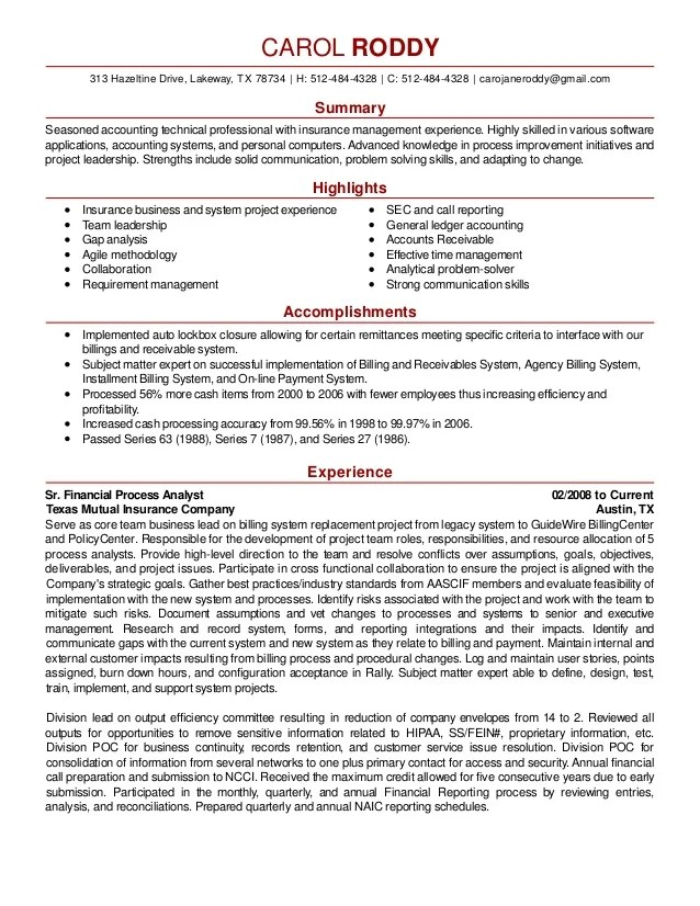 resume skills paragraph examples