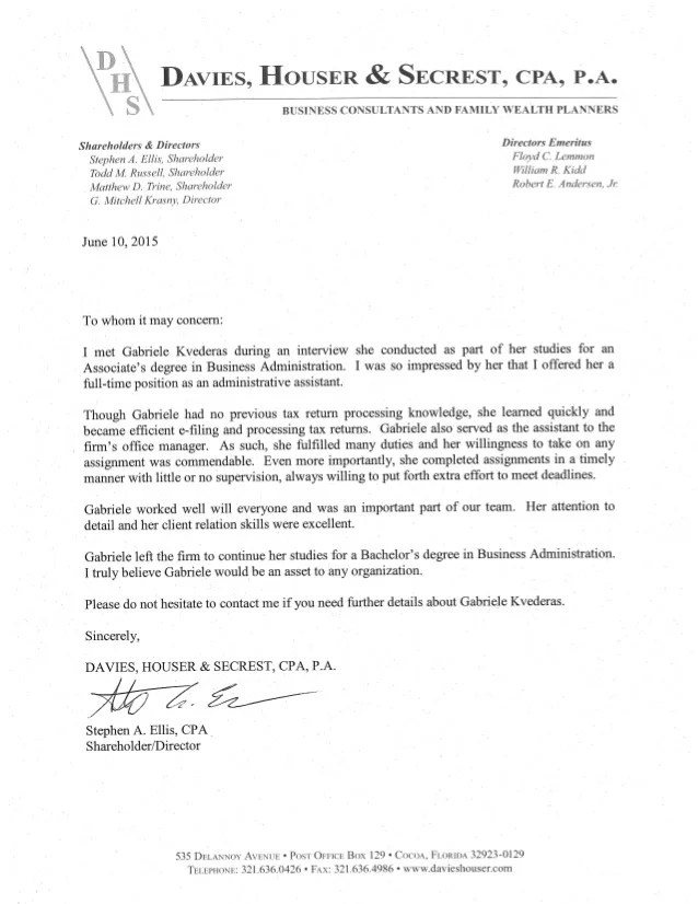 cpa reference letter - Tikirreitschule-pegasus