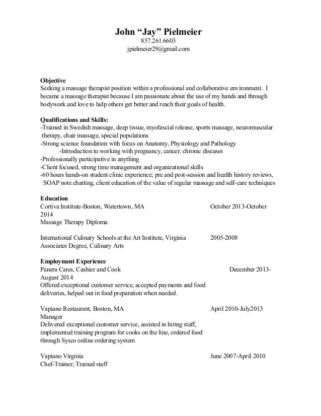 Example Of Career Objectives For Resume Pta Resume Resume Cv