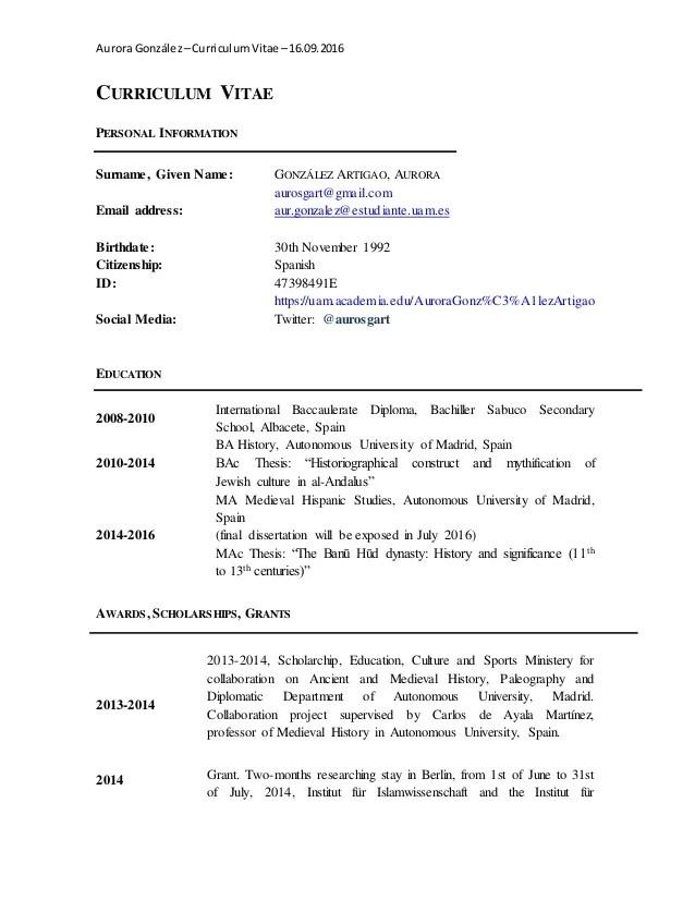 resume for english major