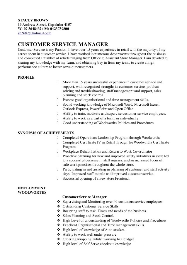 customer service resume linkedin