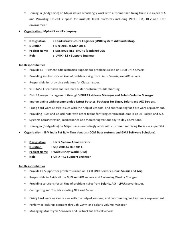 unix resumes - Boatjeremyeaton - unix engineer resume
