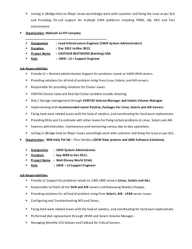 3 Resume For Database Developer Download Now Veerapandi Unix System Engineer Linuxsolarisaix
