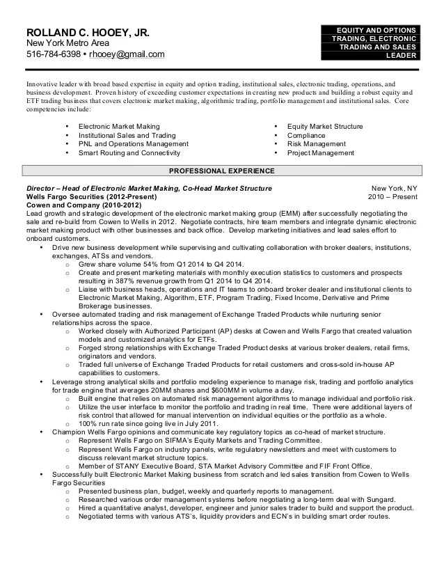 junior trader resume - Onwebioinnovate