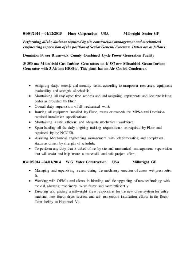 millwright resumes - Onwebioinnovate - millwright resume
