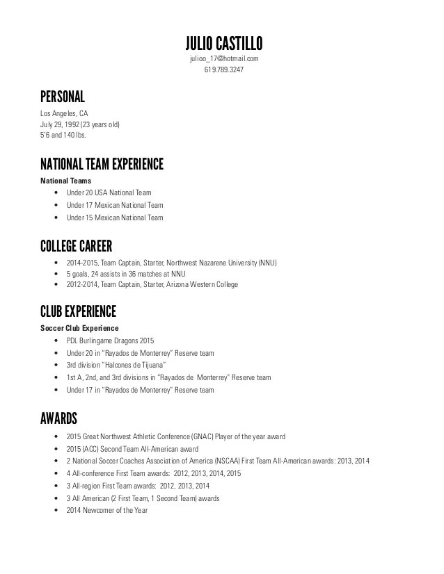 sample resume for 20 year old
