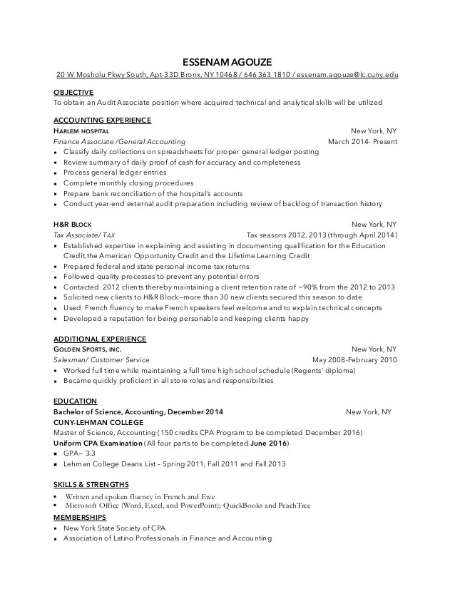 accounting associate resume - Artij-plus