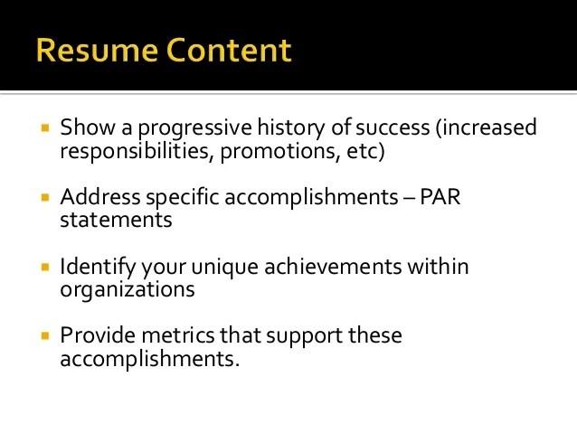resume accomplishments vs responsibilities