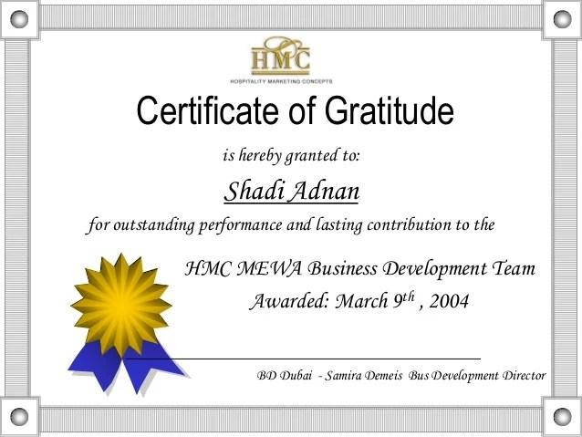 certificate of appreciation wording examples - Josemulinohouse - certification of appreciation wording