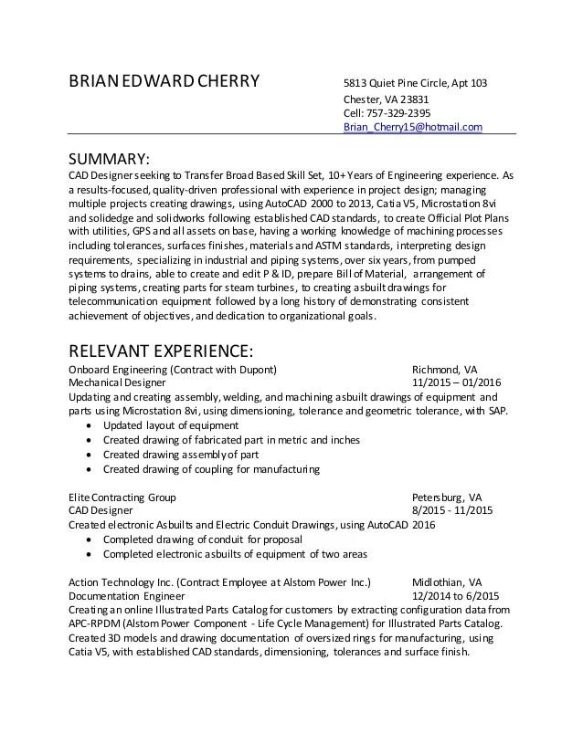cad engineer resumes - Alannoscrapleftbehind - forensic mechanical engineer sample resume