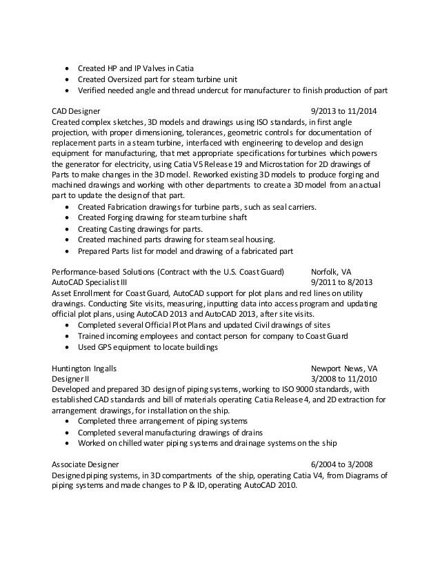 cad designer resumes - Goalgoodwinmetals - cad engineer sample resume