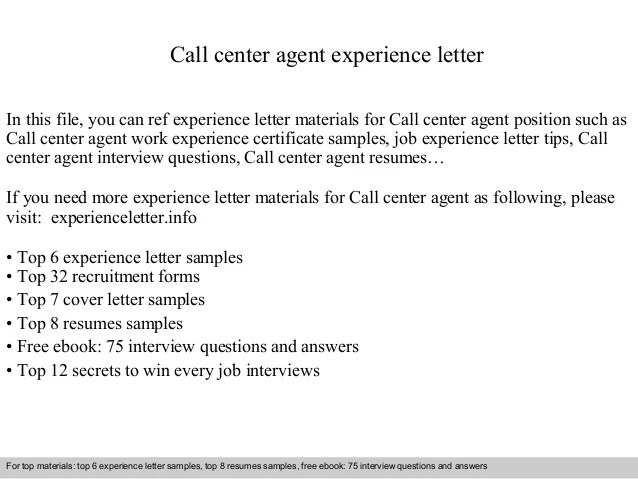 sample resume call center agent no work experience - Pinar