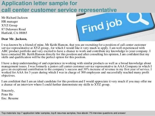 sample cover letter customer service call center - Intoanysearch - cover letter for customer service representative call