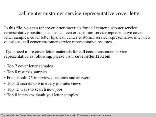 Sample Cover Letter Customer Service Representative Customer Service Representative Cover Letter Sample Call Center Customer Service Representative Cover Letter