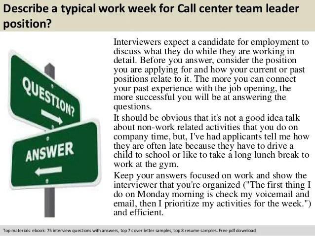 Graduate Entry Clinical Nurse Leader Program Call Center Team Leader Interview Questions