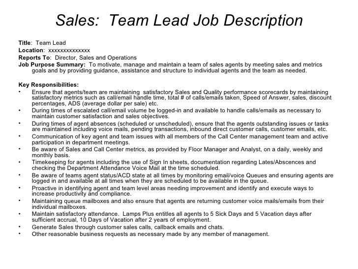 Attractive Job Description Examples Sales Character Reference Letter