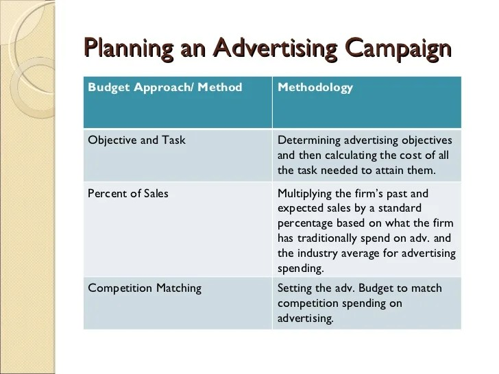 advertising campaign outline - Onwebioinnovate - advertising plan