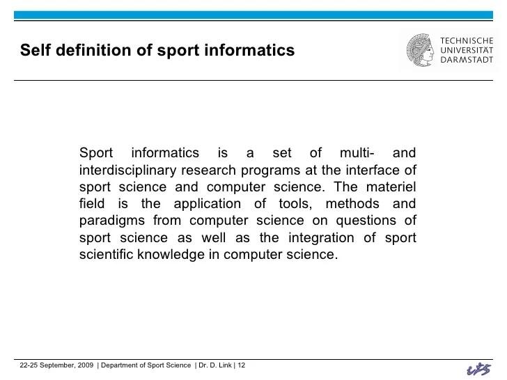 Computer Science, Sport Science and Interdisciplinarity