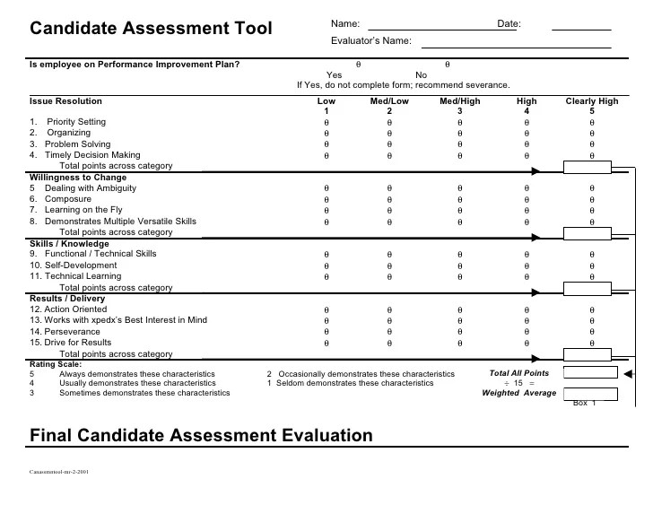 Job Applicant Interview Evaluation Form | Good Resume Sample For