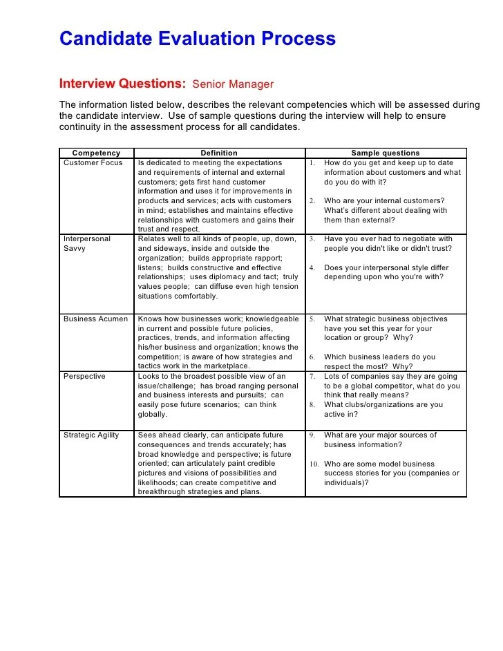 Interview Evaluation Form Rose Recruitment Can Evaluation Process All Levels With Sample Questions
