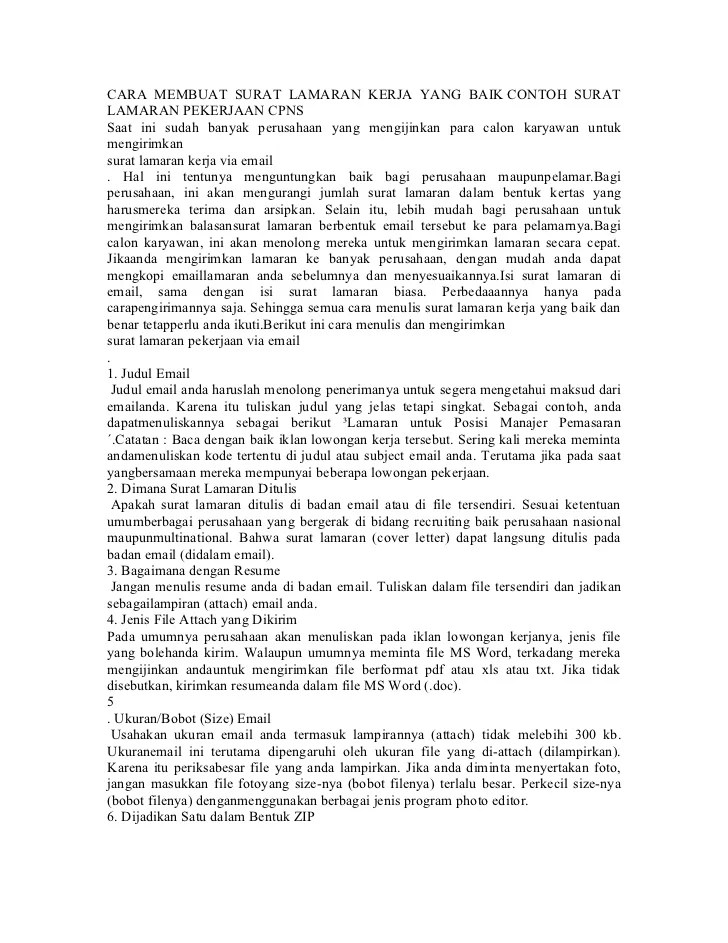 Cover Letter Melalui Email Cover Letter To Whom It May Concern