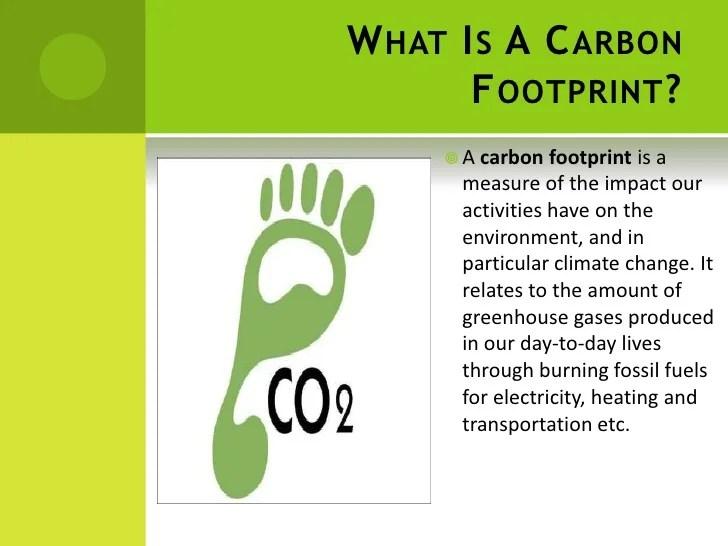 Carbon Foot Printppt