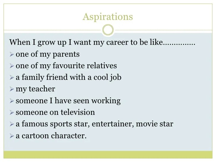 career aspiration statement examples