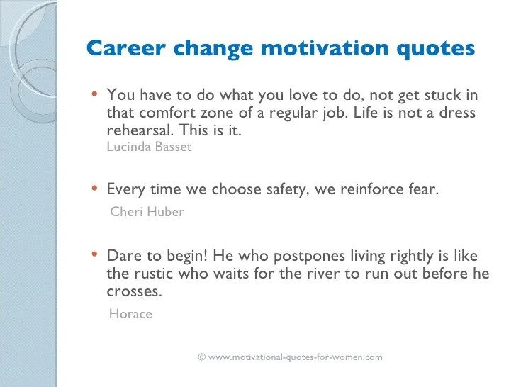 motivation for a job change - Towerssconstruction