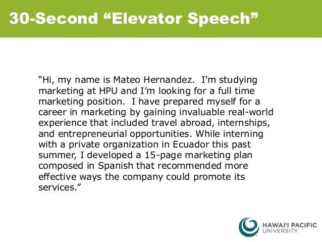 30 second elevator speech - Towerssconstruction