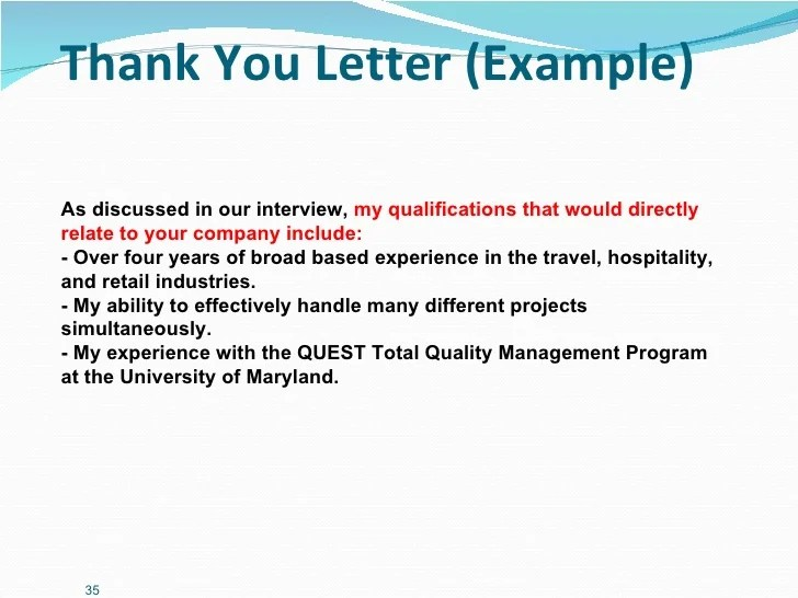 Thank You Letter Hospitality | Resume Pdf Download