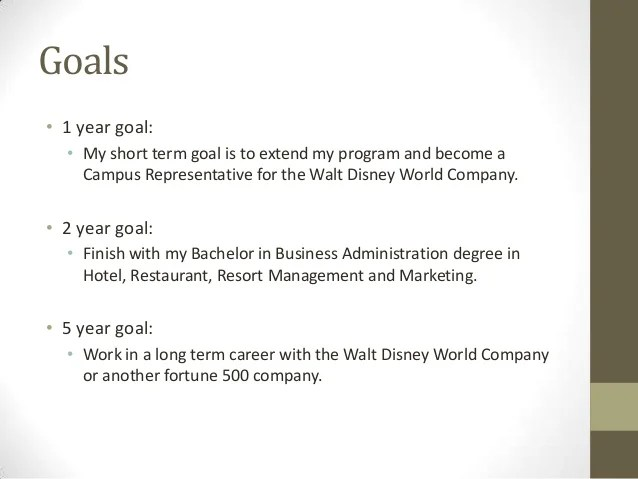 Essay on life goals examples