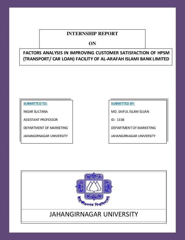Car loan on al arafah islami bank