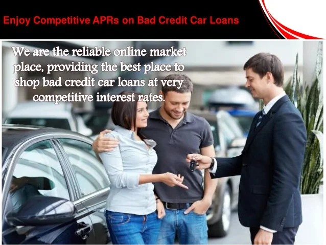 Best Deal on Car Loans for People with Bad Credit