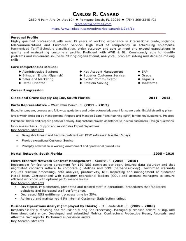 Import Export Specialist Resume - Resume Example 2018 \u2022