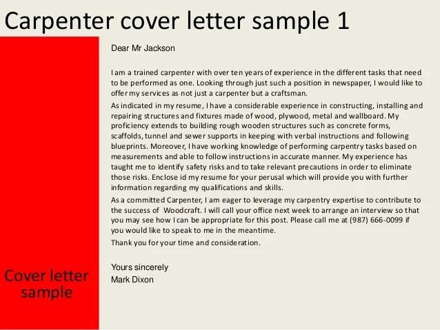 carpenter cover letter sample - Ozilalmanoof - rough carpenter sample resume