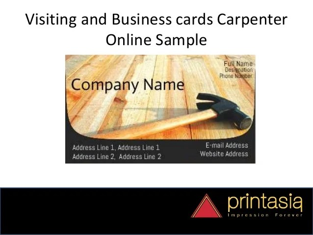 sample visiting cards