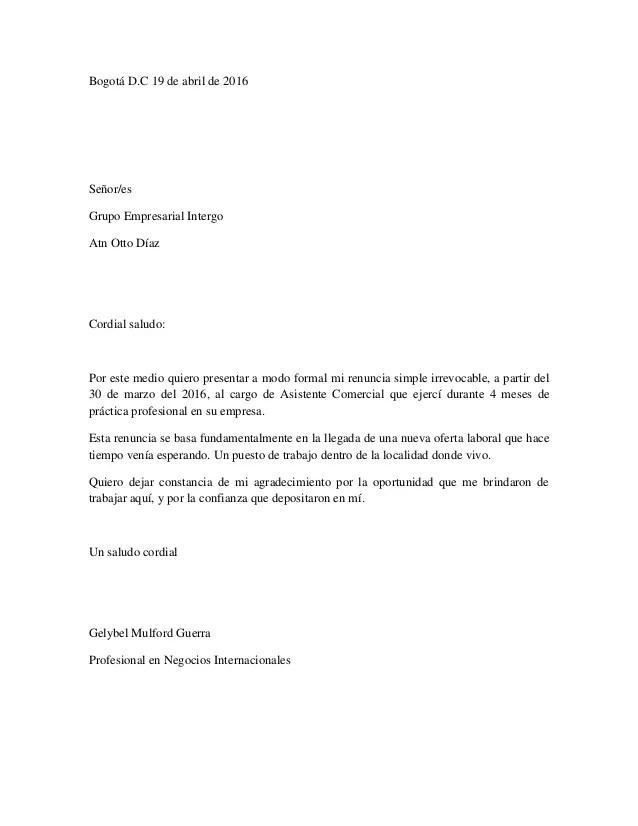 Carta De Presentacin Comercial. Fabulous Carta Comercial With Carta ...