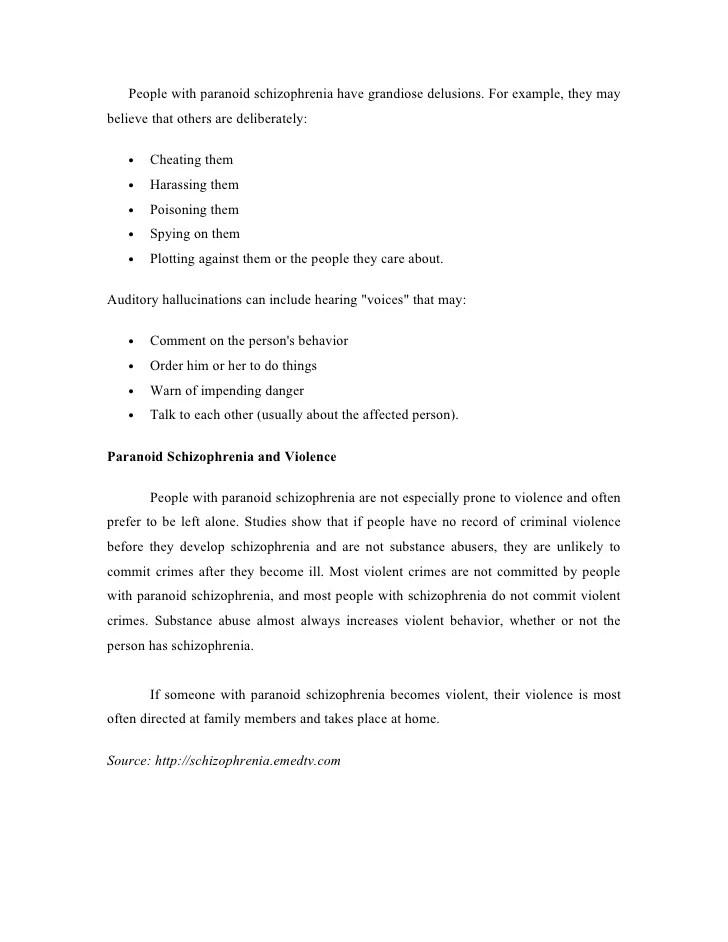 Schizophrenia Case Studies Nursing Case Study Paranaoid Schizophrenia