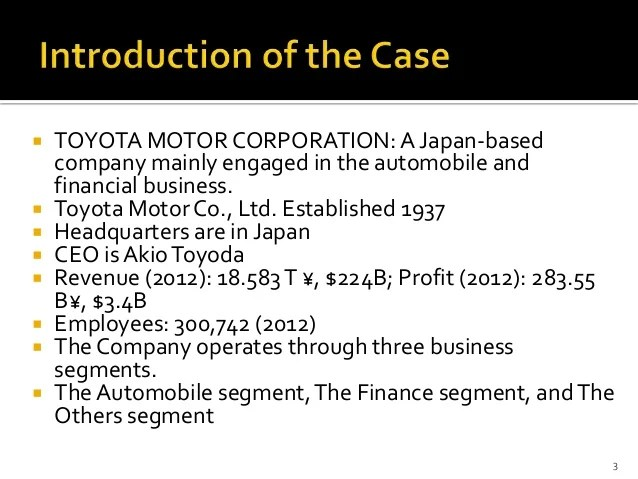 Gender Stereotypes In Mass Media Case Study Analysis Of Strategic Management Case Study Toyota