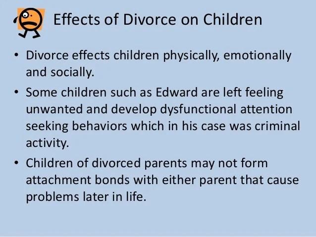 how does divorce affect children