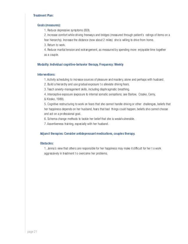 individual treatment plan example - Alannoscrapleftbehind - treatment plan templates