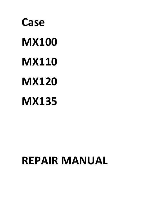 wiring diagram for a case mx100c