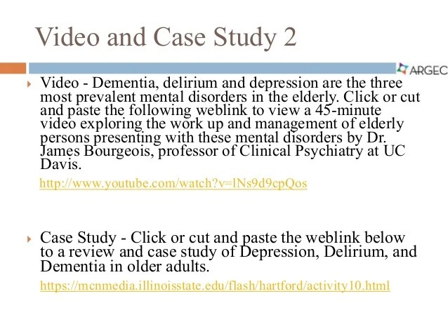 Benzodiazepine Use And Risk Of Alzheimers Disease Case Argec Case Studies Assessment Of Geriatric Depression