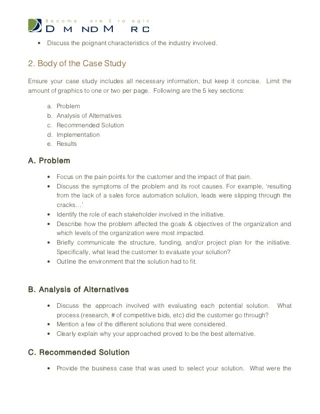 How To Create A Case Study Using Apa Format The Pen And Case Study Template