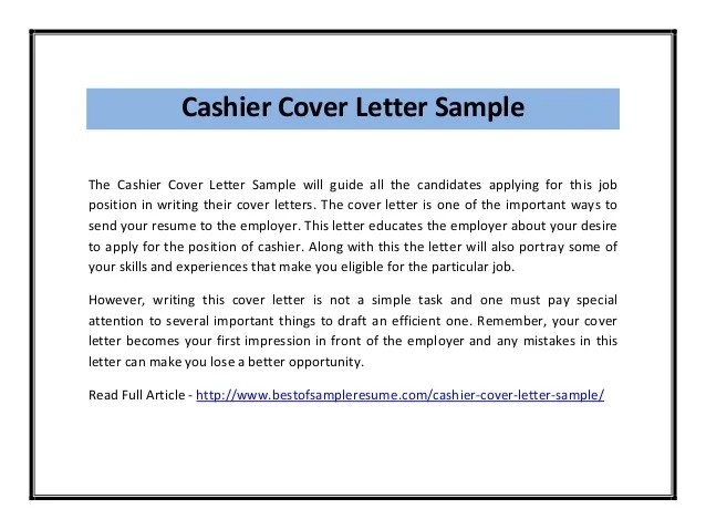 Objective For Cashier Resume | Template