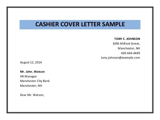 Customer Service Billing Cover Letter