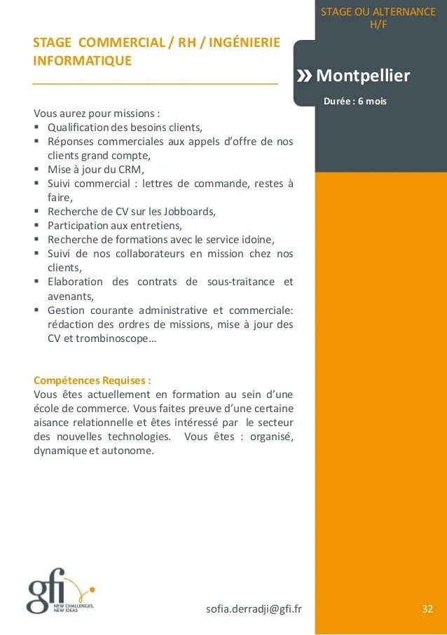 cv mission realisation competences