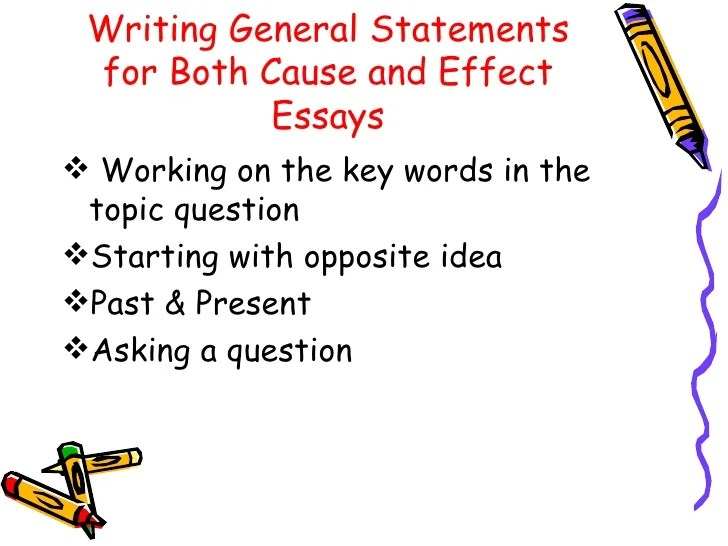 cause and effect essays examples