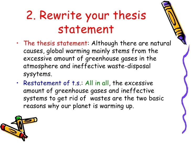 Example Of Thesis Statement In An Essay