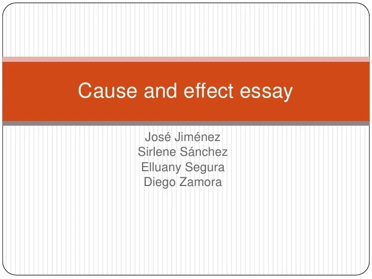 Essay Cause And Effect